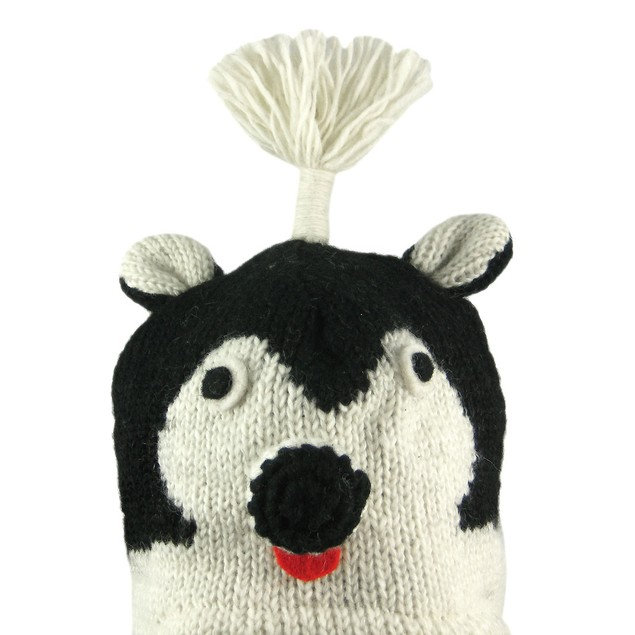 Wool Skunk Face Pilot Cap Winter Trooper Adult Mens Cold Weather Hats