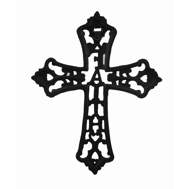 Cast Iron Faith Decorative Wall Mounted Cross Wall Crosses