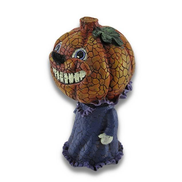 Girl Pumpkin Bobble Head Figurine Decor Statues