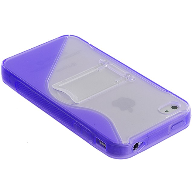 Apple iPhone 4 TPU S-Shape Case Cover with Stand
