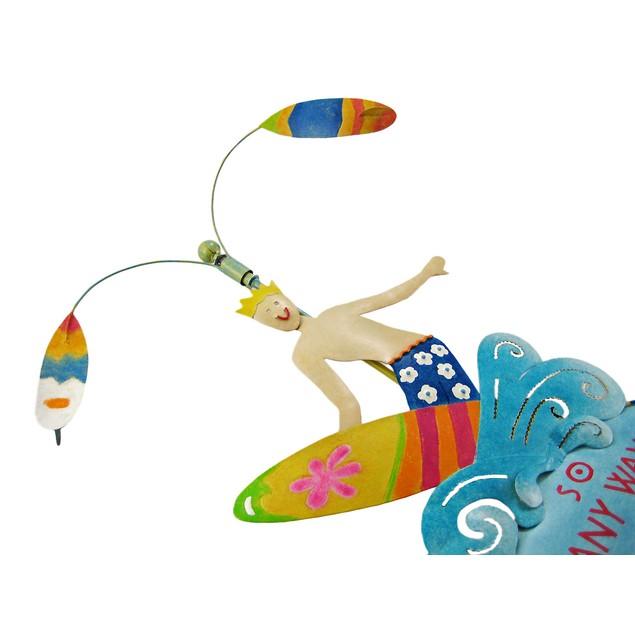 Cool Surfing Motif Spinning Garden Stake Surf Garden Stakes