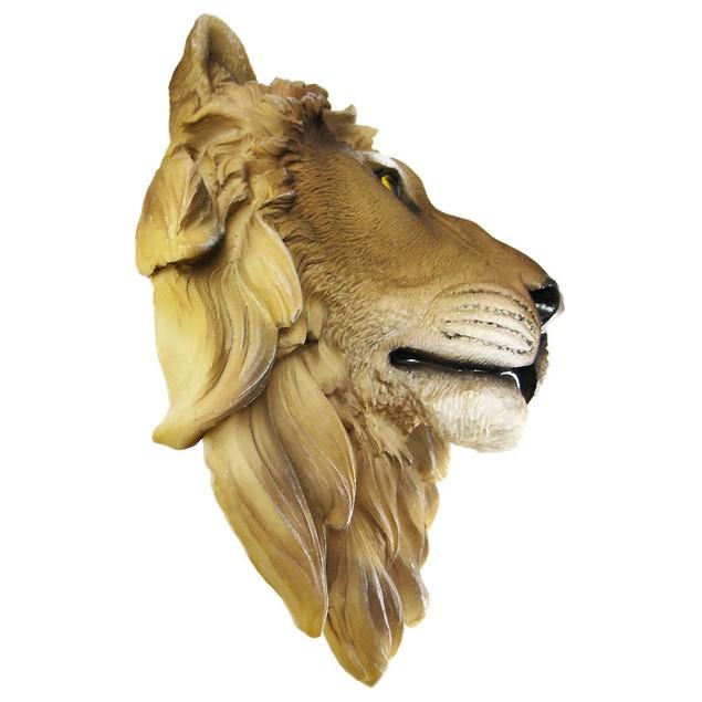 African Lion Head Mount Wall Statue Mini Bust Leo Wall Sculptures