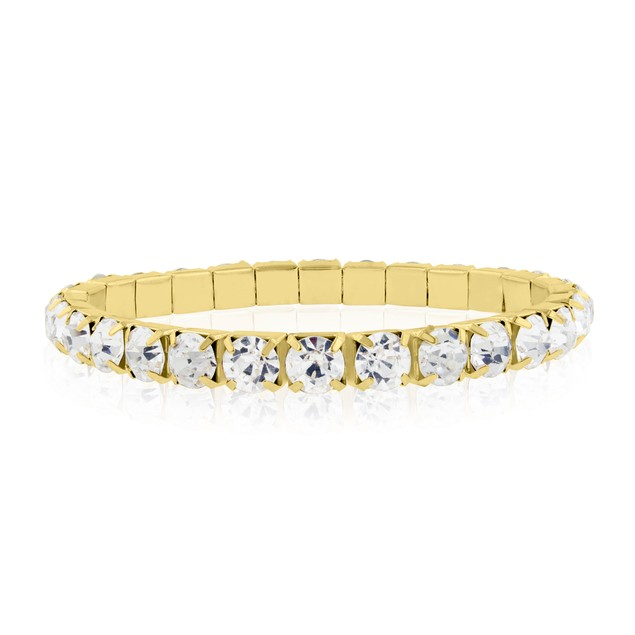 Gold Tone & Clear Crystal Bracelet