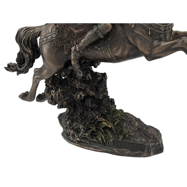 Norse Valkyrie On Running Horse Statue Valhalla Statues