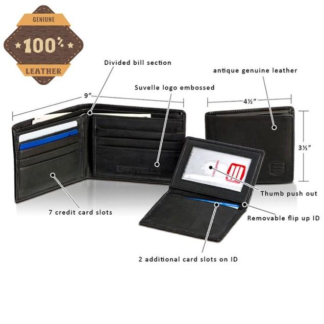 Men's Suvelle Super Slim Leather Wallet