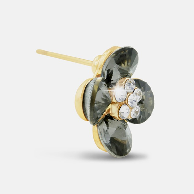 Blooming Flower Swarovski Elements Stud Earrings