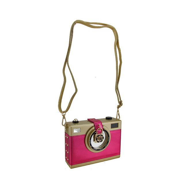 Say Cheese Charming Hard Shell Retro Camera Clutch Womens Clutch Handbags