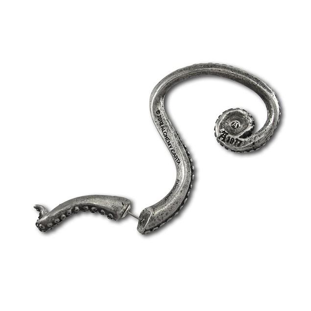 Alchemy Gothic Kraken Tentacle Double Sided Ear Mens Earrings