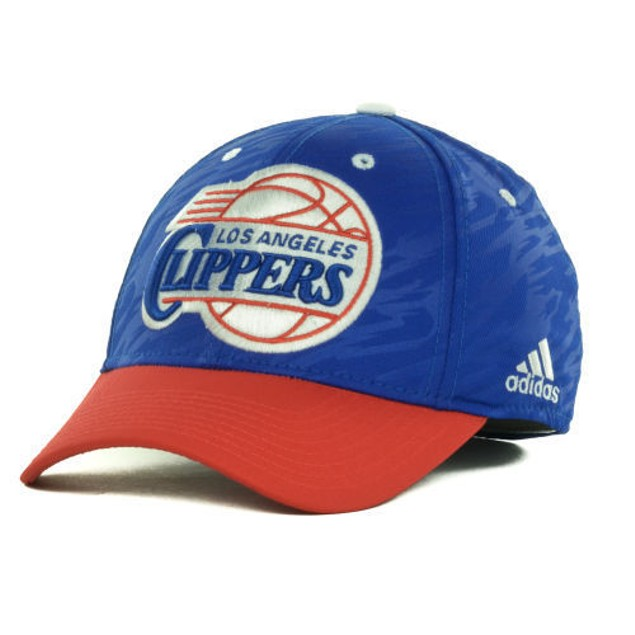 """Los Angeles Clippers NBA Adidas """"Courtside 2 Tone"""" Stretch Fitted Hat"""