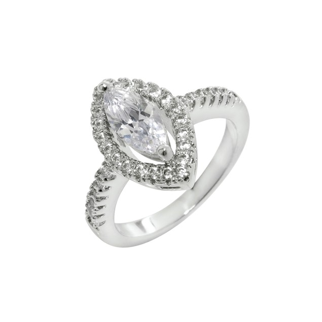 2.5cttw Marquise CZ Halo Ring
