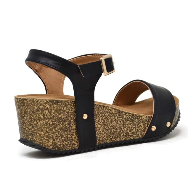 Mata Women's Platform Cork Wedge Sandals