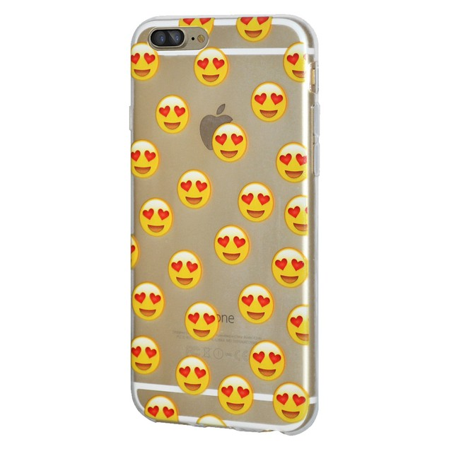 Soft Gel Premium Graphic Emoji TPU Skin Case for iPhone 7 Plus 7+ - Love