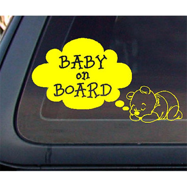 Zone Tech Bear Baby on Board Car Decal Sticker Safety Warning Sign