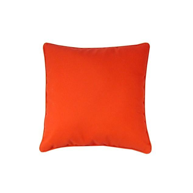 Sunbrella Premium Solid 18X18 Pillow Logo Red Patio Furniture Pillows