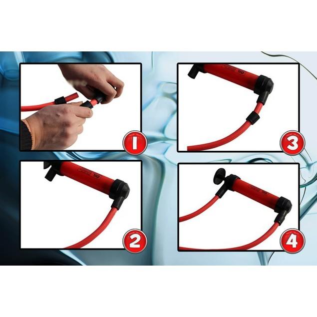 Zone Tech 3-in-1 Hand Siphon Pump, Gas/Liquid/ Air