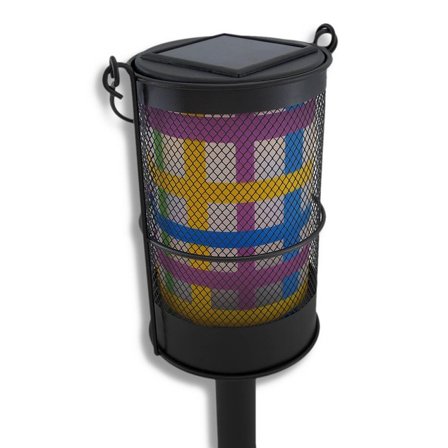 Colorful Solar Powered Lantern Garden Accent Light Outdoor Figurine Lights
