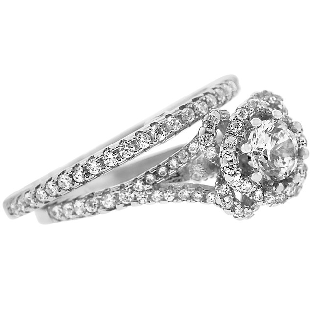2-Piece Set: Cubic Zirconia Rings - Julie Ring