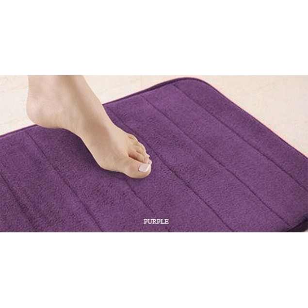 Purple Memory Foam Plush Bath Mat