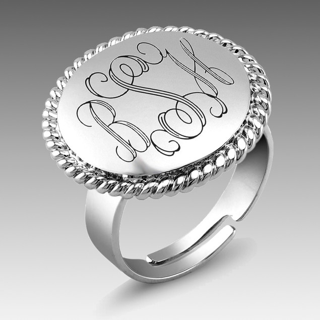 Personalized Round Braided Ring