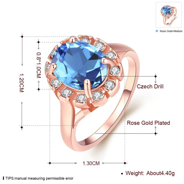 Rose Gold Plated Stone Ring