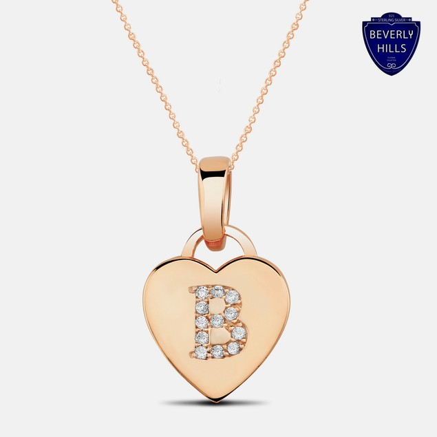 Designer Inspired Rose Gold Plated Pendant