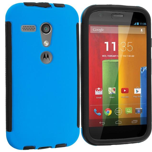 Motorola Moto G Hybrid Hard TPU Case Cover with Screen Protector