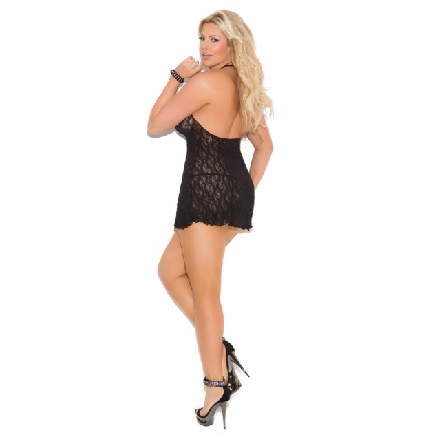 Lace Halter Mini Dress