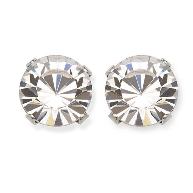 Genuine Swarovski Elements Birthstone Round Stud Earrings