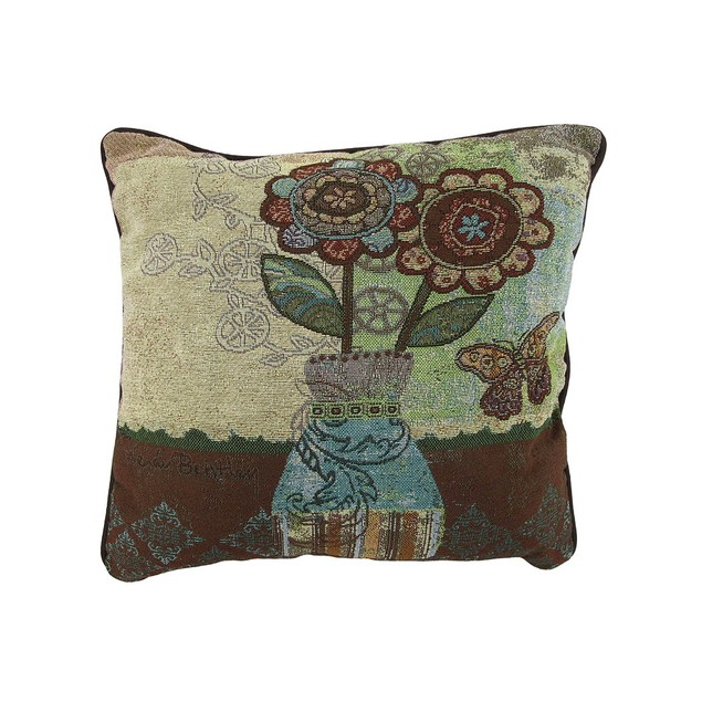Flowers And Vase Floral Tapestry Decorative Throw Throw Pillows