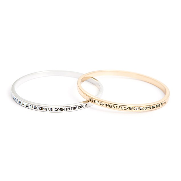Be The Shiniest Unicorn In The Room Bangle Bracelet