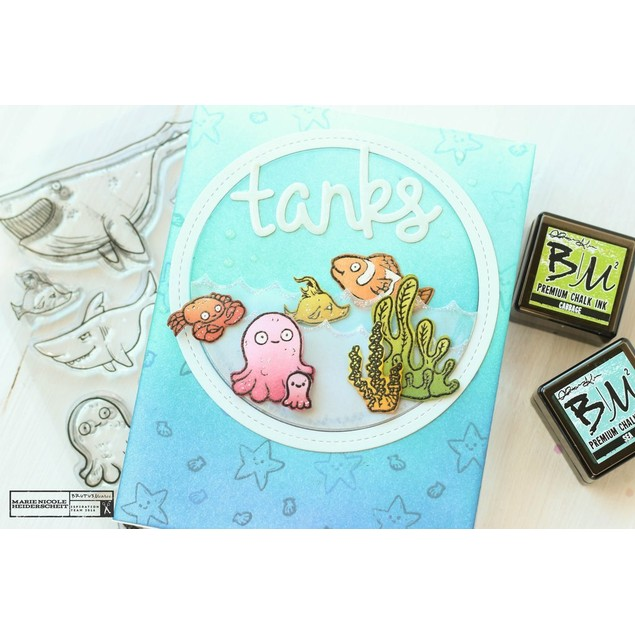 4-Piece Mini Chalk Ink Pad Collections - 4 Styles