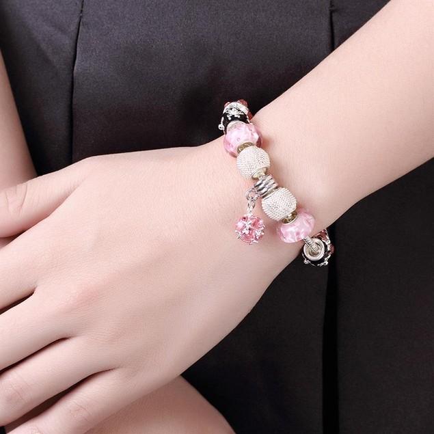 Roses in Pink Designer Inspired Bracelet