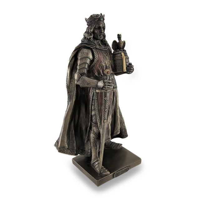 Legendary King Arthur Bronzed Sculptured Statue Statues