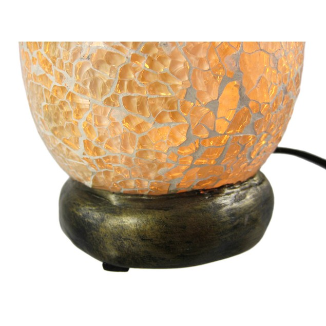Sea Turtle Hatchling Crackle Glass Table Accent Accent Lamps