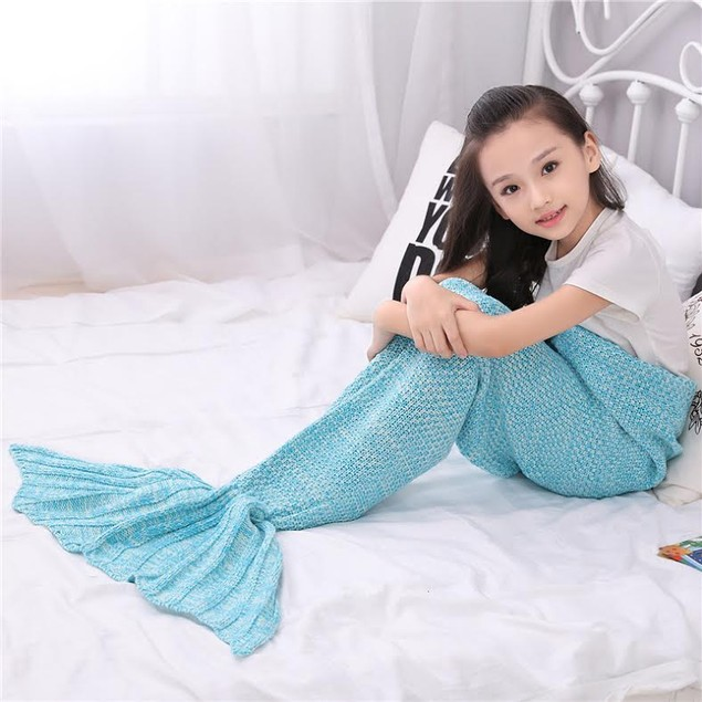 Children's Mermaid Blanket - Assorted Colors