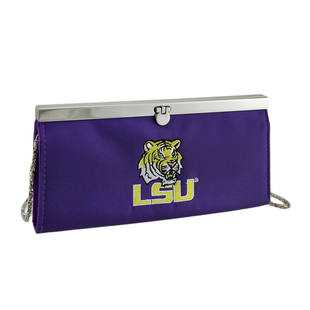 Embroidered Lsu Tigers Fabric Clutch Wallet Sports Fan Wallets