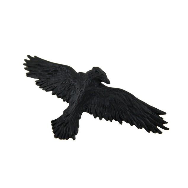 Alchemy Gothic Black Raven Pewter Hair Slide Hair Sticks