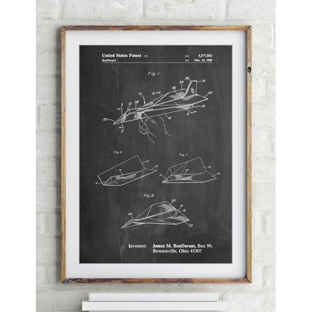 Paper Airplane Patent Poster