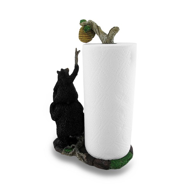 Sweet Tooth Bears Cast Resin Paper Towel Holder Paper Towel Holders