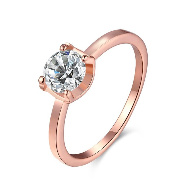 Rose Gold Plated Classic Wedding Ring