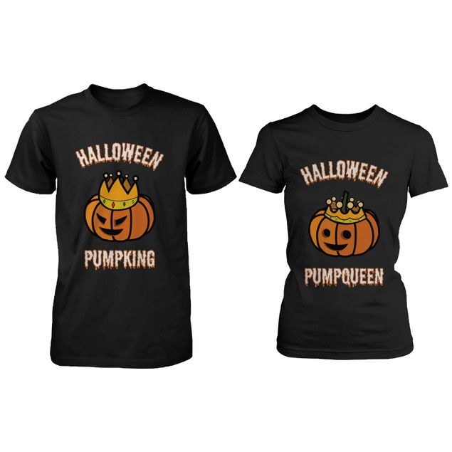 PumpKing and PumpQueen Matching Couple Black T-Shirts
