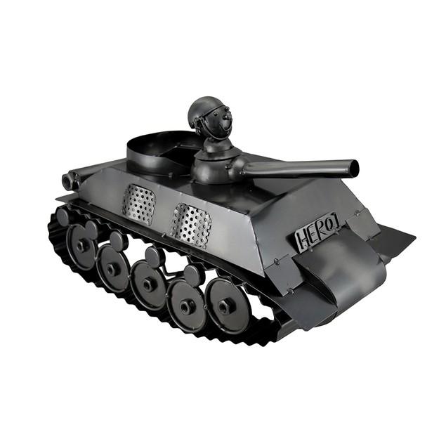 Sculpted Steel Military Tank Single Bottle Wine Wine Bottle Holders
