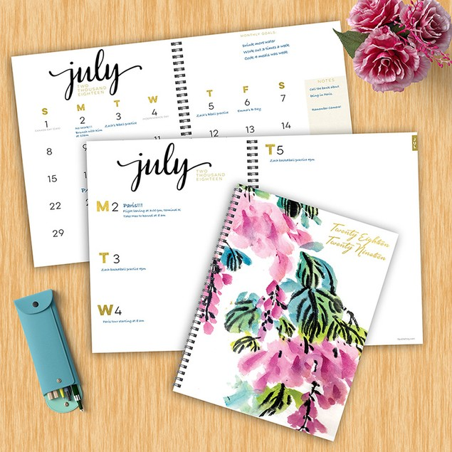July 2018 - June 2019 Large Weekly/Monthly Planner