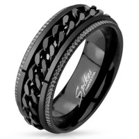 Spiked Style Stainless Steel Comfort Fit Mens Band
