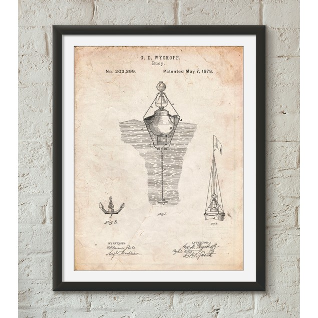 Water Buoy Patent Poster