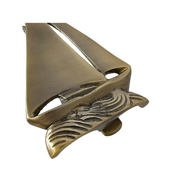 Solid Brass Sailboat Door Knocker Nautical Door Knockers