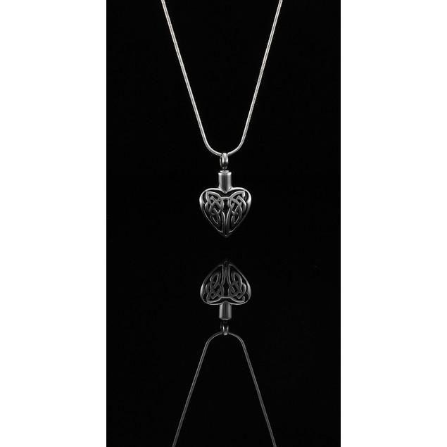 Stainless Steel Celtic Heart Memorial Keepsake Womens Pendant Necklaces