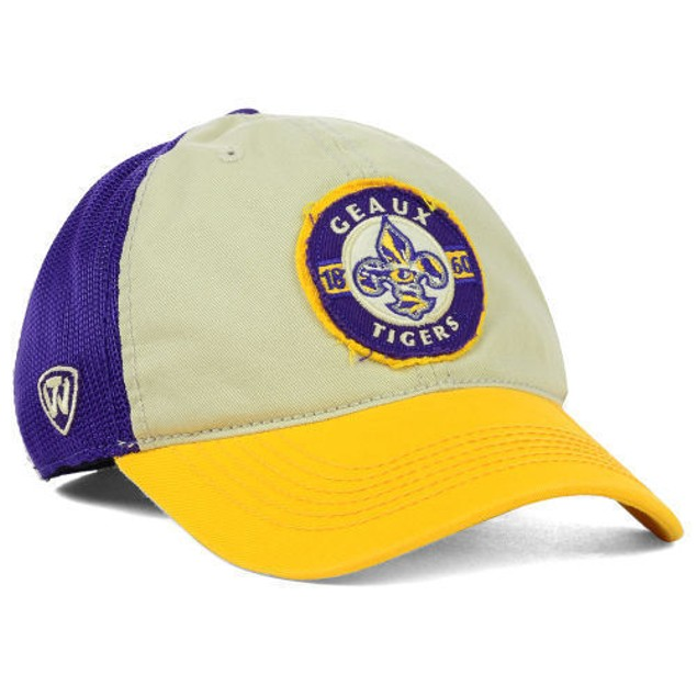 """LSU Tigers NCAA TOW """"Honors Flex"""" Stretch Fitted Hat"""