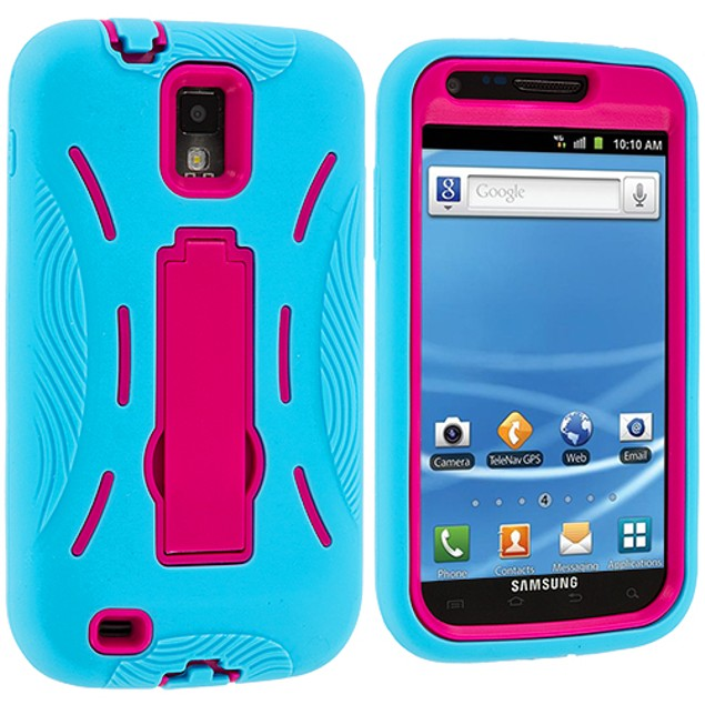 Samsung Hercules T989 Hybrid Heavy Duty Armor Case Cover with Stand