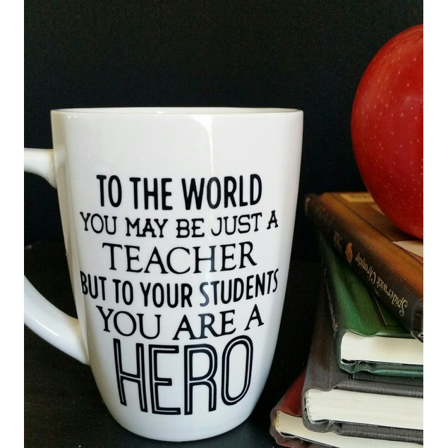 Personalized You Are A Hero Teacher Mug